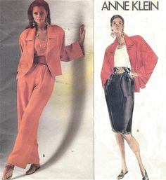 90s Anne Klein Womens Hip Length Jacket Pants & by CloesCloset