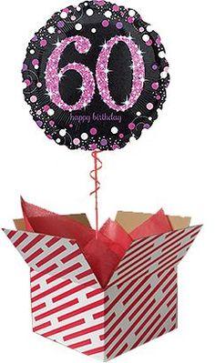 Pink Celebration 60th Birthday Balloon Gift