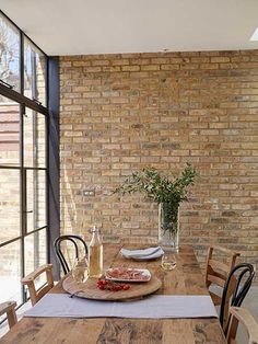 brick slip dining area