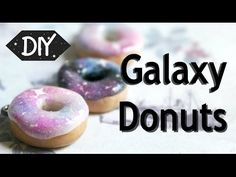 How to make Galaxy Donuts - Polymer clay tutorial Comment faire Galaxy Donuts - Tutoriel en pâte pol Polymer Clay Figures, Polymer Clay Sculptures, Cute Polymer Clay, Cute Clay, Polymer Clay Miniatures, Polymer Clay Projects, Polymer Clay Charms, Polymer Clay Creations, Diy Clay