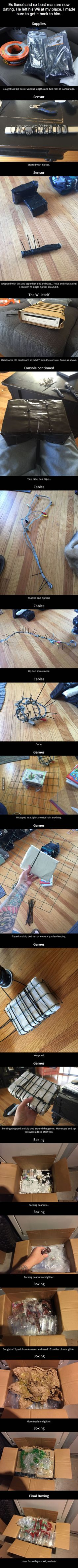 This guy's fiancé cheated on him with his best friend, so he pulled a Wii Revenge