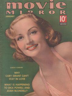 1930s  Movie Mirror, Carole Lombard