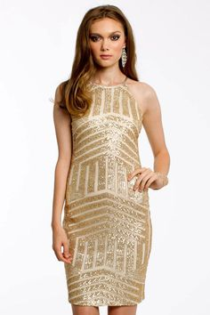NYE Dresses -  50 Sparkly Dresses Perfect for New Year's Eve - Camille La Vie Halter Dress, $60; edressme.com
