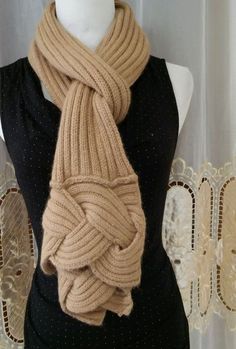 Beige trendy cable winter women's scarf  #unbranded #Scarf