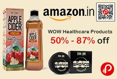 Amazon #DealofTheDay is offering 50% – 87% off on WOW Healthcare Products includes Bath & Shower, Beauty Tools & Accessories, Diet & Nutrition, Health Care, Home Medical Supplies & Equipment, Personal Care, Personal Care & Health Appliances, Skin Care & many more products.  http://www.paisebachaoindia.com/wow-healthcare-products-50-87-off-amazon/
