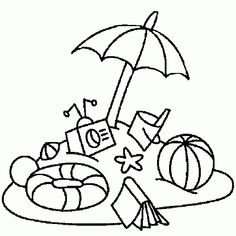summer beach coloring pages - Coloring Games Free