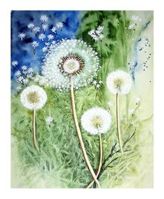 "Watercolour ""Dandelion"" Maria Inhoven"