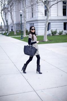 Black and white is always chic.