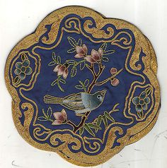 #Chinese #goldwork and silk #vintage embroidery,  View more on the LINK: 	http://www.zeppy.io/product/gb/2/331882516989/