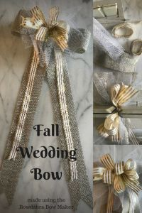 Learn how to make adorable & gorgeous fall wedding bow using Bowdabra bow maker tool. Create easy making wedding decor bows for table centerpiece, ceremony occasion & more with fall wedding ideas. Wedding Bows, Wedding Crafts, Diy Wedding Decorations, Fall Wedding, Fall Decorations, Diy Thanksgiving Crafts, Autumn Crafts, First Home Gifts, Bow Tutorial