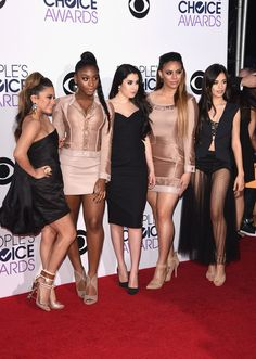 Camila Cabello Photos Photos - (L-R) Singers Ally Brooke Hernandez, Normani Hamilton, Lauren Jauregui, Dinah Jane Hansen and Camila Cabello of Fifth Harmony attend The 41st Annual People's Choice Awards at Nokia Theatre LA Live on January 7, 2015 in Los Angeles, California. - Arrivals at the People's Choice Awards