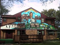 The Murals of Winnipeg, Manitoba, Canada: 2065 Henderson Highway Outdoor Art, Murals, Around The Worlds, Canada, Cabin, Mansions, House Styles, City, Manor Houses