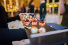Wedding Tasting Canapes Provided By Unique Norfolk Venues