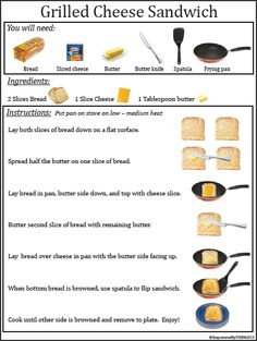 How to make grilled cheese sandwich.