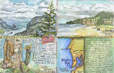 Memories of the Oregon Coast - Lisa' Beautifyl Sketches