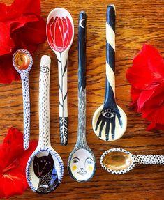 Cute Chopstick Rest & Spoon Ceramic – Art Modern – In-house Factory Ceramic Spoons, Ceramic Clay, Ceramic Pottery, Pottery Art, Pottery Studio, Slab Pottery, Ceramic Studio, Ceramic Decor, Wooden Spoons