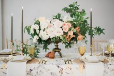 La Tavola Fine Linen Rental: Harper Yellow Grey with Tuscany Eggshell Napkins | Photography: Stephanie Mballo Photography, Design & Planning: Ira & Lucy, Floral Design: Lemon Blossom Designs, Paper & Calligraphy: Inkling Calligraphy, Venue: Chateau des Fleurs