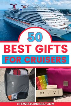 If you're looking for gift ideas for cruise travelers, here are 50 of the best gifts or women & men who love to cruise. From practical cruise accesorries to cruise novelty gifts and more this list will have what cruisers want and need! Cruise Port, Cruise Travel, Cruise Vacation, Vacation Trips, Cruise Ship Reviews, Best Cruise Ships, Packing List For Cruise, Cruise Tips, Cruise Destinations