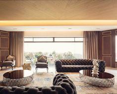 Un salon spacieux. l aménagement pour salon l décoration d'intérieure l inspirations et idées l  Pour plus d'idées, cliquez ici : http://www.brabbu.com/all-products/