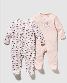 Pack pijamas de bebé niña combinados