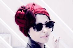 Sunglasses and Red Turban