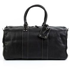Amazon.com: BACCINI large travel bag TOBY - weekender duffel black leather: Clothing