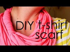 This video tutorial will show you how to make infinity scarf without using a sewing machine. It's the perfect t shirt scarf to dress up any outfit! To read t. T Shirt Remake, T Shirt Diy, Clothes Crafts, Sewing Clothes, Old Sweater Diy, Diy Crochet Scarf, Infinity Scarf Tutorial, Scarf Shirt, Shirt Scarves