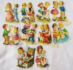 Vintage 1930s Diecut Scrap Children at Play by soldiersuzanne, $8.00