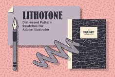 LITHOTONE: Dstrssd Pattern Swatches by True Grit Texture Supply on @creativemarket