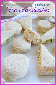 Simply Elegant Tea Sandwiches · Cucumber Sandwiches and Watercress Sandwiches - That Recipe