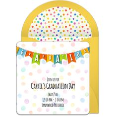 Customizable, free Colorful Graduation Banner online invitations. Easy to personalize and send for a graduation party. #punchbowl