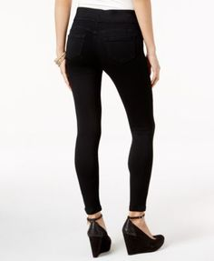 Thalia Sodi Black Wash Jeggings, Created for Macy's - Black M Feminine Fall Outfits, Thalia, The Chic, Super Skinny, Jeggings, Black Jeans, Dressing, Classy, Denim