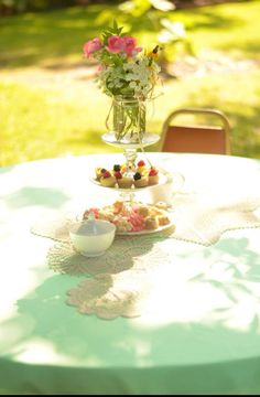 Fresh flowers are a tea party must.