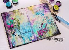 art journal pages with magicals for watercolor and texture