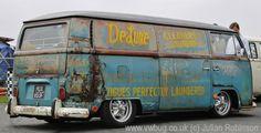kombi rat look Volkswagen, Vw T1, Van Signs, Rat Look, Combi Vw, Sign Writing, Van Interior, Bus Camper, Fancy Cars