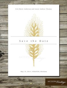 Hey, I found this really awesome Etsy listing at https://www.etsy.com/listing/182897018/save-the-date-vintage-wheat-illustration