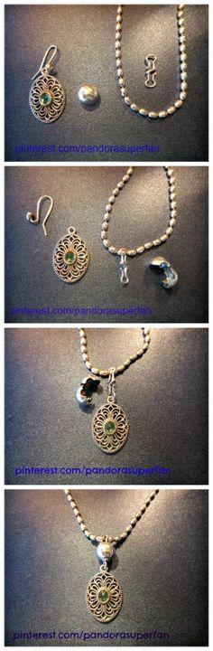 Turn your Pandora earring pendants into a necklace pendant with a Pandora S-lock and any clip