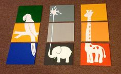 Nine piece jungle or safari collection by ApricotInc on Etsy