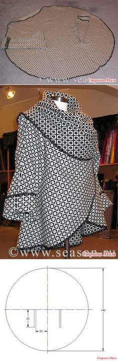 Great Absolutely Free sewing tutorials jacket Concepts Circular Jacket Sewing Tutorial - More projects for making your own clothes at www. Diy Clothing, Sewing Clothes, Clothing Patterns, Dress Patterns, Sewing Patterns, Coat Patterns, Dress Sewing, Dress Clothes, Barbie Clothes