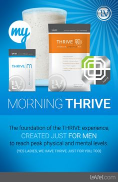 My Le-Vel Thrive morning experience is simple and very affordable..come get your Thrive on with free sign up