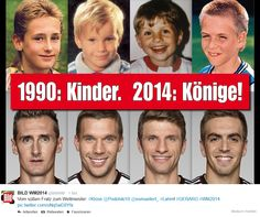 German national players then and now