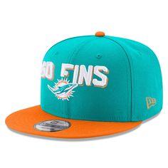 459a3291a9eb18 Miami Dolphins New Era 2018 NFL Draft Spotlight 9FIFTY Snapback Adjustable  Hat – Aqua/Orange