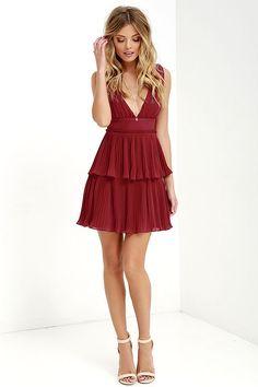 Deserved Adoration Wine Red Dress at Lulus.com!