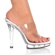 Competition Shoes: 5 inch Clear heels, perfect for NPC competition and IFBB competitions. Suits You Swimwear