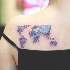 World Map Tattoos Design (2)