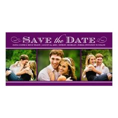 Wedding Save the Date Photo Card   Simple Elegance
