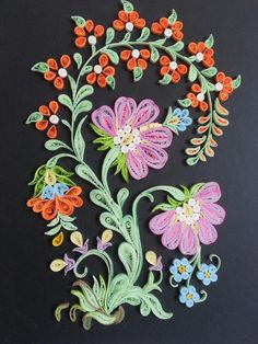 Quilled flower bunch. ...