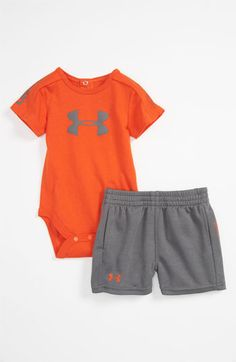 Under Armour 'Integrity 2.0' Bodysuit & Shorts (Infant) available at #Nordstrom