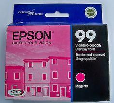 Genuine Epson 99 Inkjet Ink Cartridge T099320 OEM Magenta NIP EXP Feb 2012