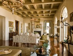 A Large Salon-Style Living Room in a New Creole House by Ken Tate #livingroom